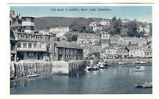 The Quay - West Looe Photo Postcard c1950s