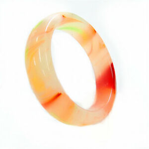 Natural Chinese Beautiful Bangle Hand Carved Jade Bracelet Female Gift 18*19mm