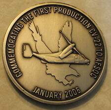 First Production CV-22 Osprey Air Force Special Operations AFSOC Challenge Coin