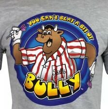Bullseye T Shirt para Hombre Gris no puede superar un poco de Bully S Libre Post Nuevo Y En Caja