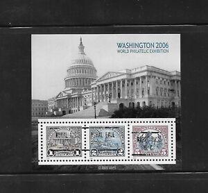NC Precancels: Rural Hall 723; Washington 2006 Souvenir Sheet ($1/$2/$5) #4075