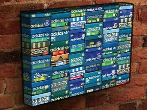 ADIDAS ORIGINALS Vintage Shoe Boxes Canvas 14 X 20 Art TRAINERS COLLECTION OG