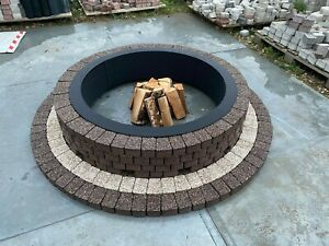 Round Fire Pit 155 cm granite stone concrete slab Garden Patio Garden Decor rare