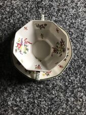 """FESTIVE ROYAL DOULTON """"OLD LEEDS SPRAY"""" FLAT CREAM SOUP BOWL AND SAUCERS!"""