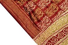 Vintage Indian Pure Silk Kantha Saree Fabric Hand Embroidered Printed Sari Wrap