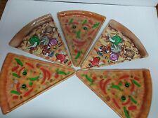 New listing Vintage Mixed Lot 5 Pizza Slice Shaped Plates Deborah Mallow Plastic Party Fun