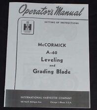 IH International McCormick A-60 Super A 100 130 140 Snow & Grader Blade Manual