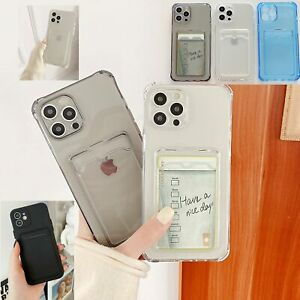 New Case With Card Slot Holder For iPhone 13 12 11 Pro Max Mini XS XR X