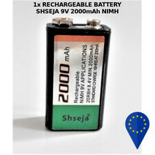 BATTERY SHSEJA 9V 2000mAh HIMH RECHARGEABLE BATTERIA RICARICABILE