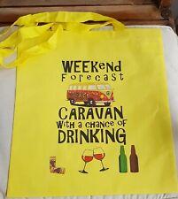 Camping Caravan Drink Weekender Tote Bag - Ideal Gift Present. 100% Cotton
