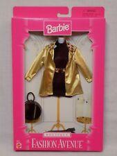 New Nrfb 1997 Barbie Fashion Avenue Boutique 18126 Gold Jacket Leopard Black Top