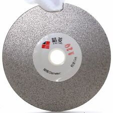 "4"" inch Grit 120 Coarse Diamond Flat Lap Disk Grinding Polishing Wheel Arbor 5/8"