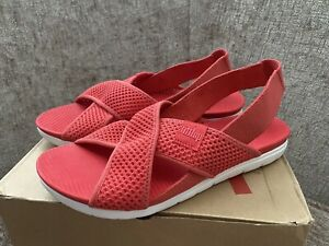 Brand New Genuine Fitflop Airmesh Sandals In Red Summer Shoes  Sz 7 / 41/09 £59