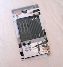 Royal & Langnickel Graphite Sketching Art Set Tin Pencils & Sticks 13 Pieces