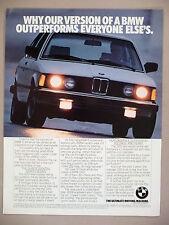 BMW 320i Car PRINT AD - 1982