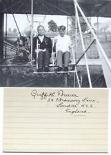 Griffith Brewer English Pioneer Balloonist Founder Royal Aero Club Autograph