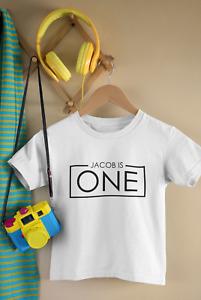 1st Birthday Personalised Name One Kids Tshirt Birthday Child Age Children Party