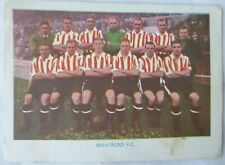BRENTFORD FOOTBALL TEAM SHERMANS POOLS 1938