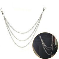 3Std Trousers Men Lady Chain Jeans Wallet Keychain Punk Rock Hip Hop Waist Be !D