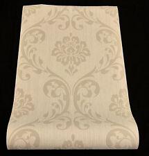 "13110-) hochwertige Vliestapete ""Ornament"" Barock Design Tapete beige"