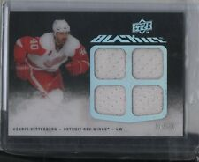 Henrik Zetterberg Quad Jersey #/50 SP Rare 2010 Upper Deck Black Ice