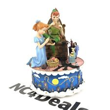 Rare Disney Peter Pan Wendy Tinkerbell You Can Fly Vintage Rotating Music Box