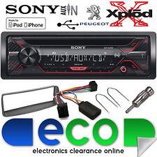Peugeot 206 2002-10 Sony Cd MP3 Usb Aux Ipod Coche Radio Estéreo Kit De Volante