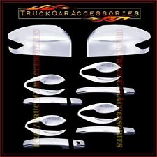 For NISSAN Altima 2013 Chrome Covers Mirrors Signal+4 Doors w/o+Door Bowl Plates