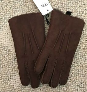 UGG Men's Sheepskin 3PT Gloves Brown Size XL Leather Warm Winter Fully Lined