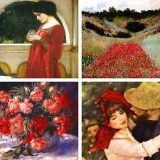 'Composizione in rosso quadro - Stampa d''arte su tela telaio in legno'