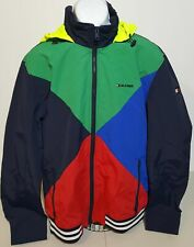 Tommy Hilfiger Color Block Spell Out 90s Style Full Zip...