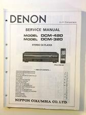 Denon DCM-320 DCM-420 CD Player Service Manual *Original*