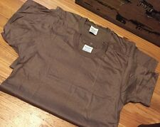 Lot 2 Vintage 1988s US Army Military Undershirt Crew Neck Cotton Brown T Shirt.