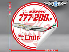 EMIRATES AIRLINE BOEING B777 B 777 LR LONG RANGE ROUND DECAL / STICKER