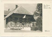 Hühnerfütterung Hans Thoma Schwarzwald Bauernhof Katze Hühner H A3 0503 Gerahmt