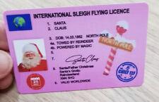 Santa Sleigh License Christmas Eve Gift Traditional Fly Gift Funny
