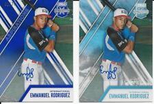 Emmanuel Rodriguez 2017 Panini Elite Extra Edition 2 Auto Card Lot 01/25 Blue