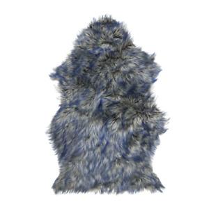 Genuine Lookalike Faux Sheepskin Rug 2x3 ft Multicolor Artificial Sheep Wool Rug