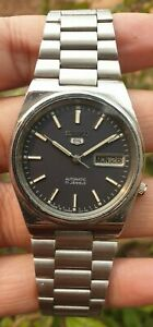 Vintage Seiko 5 Automatic Movement No 7009 Japan Made Men's Watch
