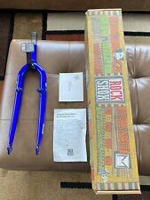 "1990's GT Cro Mo 26"" Mt Bike Fork 1 1/8"" Blue Moly, Shipped in ROCK SHOX box"