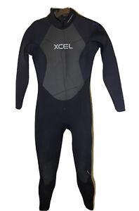 XCEL Womens Thermocarbon Full Neoprene Wetsuit Size 10 Offset Zipper Black
