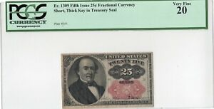 25 Cent Fifth Issue, FR#1309 Fractional Currency