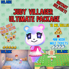 Animal Crossing New Horizons JUDY Villager + 12 MIL or 400 TICKETS + BONUS