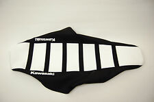"White and Black Ribbed ""Kawasaki"" Seat cover KX125 KX250 1988-89,KX500 1988-06"