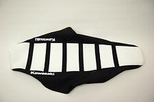 "New White and Black Ribbed ""Kawasaki"" Seat cover KX125 2003-06, KX250 2003-08"