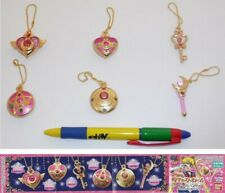 Sailor Moon Set 6 Charms Charms Metal Bandai Japan Original Sceptre Heart