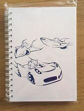 Sonic The Hedgehog Nota Libro All Star Racing transformado Nuevo Sellado PROMOCIONALES RARO