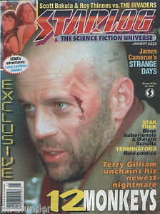 Starlog #222 Twelve Monkeys Terminator 2 The Invaders Strange Days Star Trek