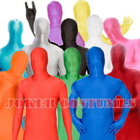 Morphsuit Fancy Dress Costume Skinsuit Zentai Suit 11 Fantastic Colours New