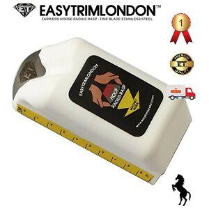 EASYTRIMLONDON Radius Rasp Farriers Tools Fine Horse Hoof Care, Magnet & Ruler